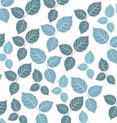 Blue leaf pattern on a white background vector image