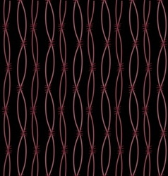 Brown barbed wire on black background vector