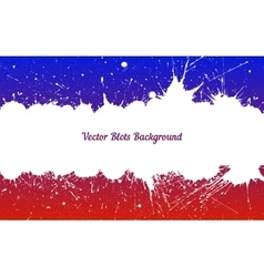 white ink splashes over blue red vector image