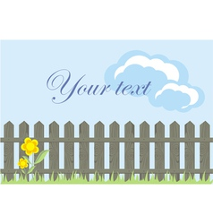 Wooden Fence Background vector image