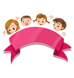 An empty template below the four heads vector image vector image