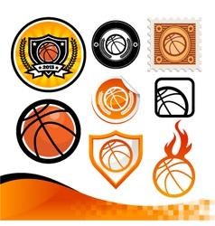 Basketball Design Kit vector image vector image