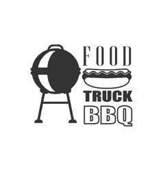 Bbq Fod Truck Label Design vector image vector image