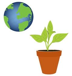 Green world concept vector image