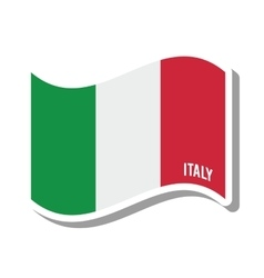 italy patriotic flag isolated icon vector image vector image