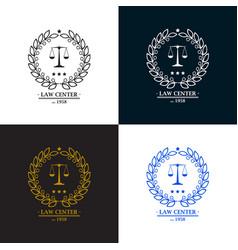 law firm office center logo desig vector image vector image