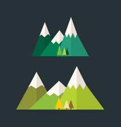 mountain nature outdoor icon snow ice tops travel vector image vector image