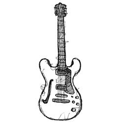 scribble series - guitar vector image vector image