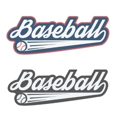 Vintage baseball label and badge vector image vector image