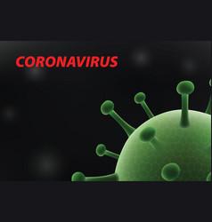 3d realistic coronavirus background vector image
