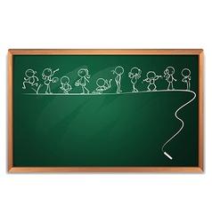 A blackboard with doodle art vector