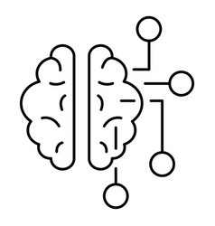ai brain icon outline style vector image