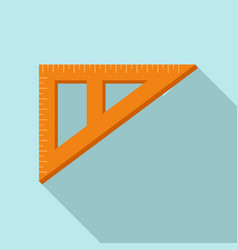 Angle ruler icon flat style vector
