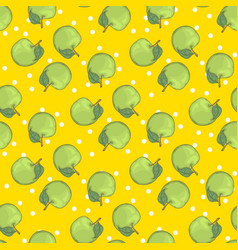 aple seamless pattern vector image