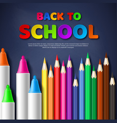 back to school paper cut style letters with vector image