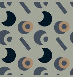 basic vivid shapes seamless pattern vector image