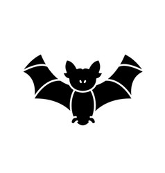bat black icon sign on isolated background vector image