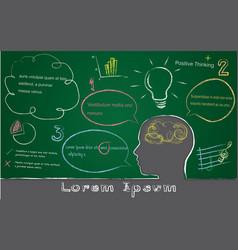 Black board lorem ipsum concept vector