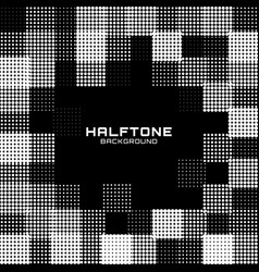 border frame halftone circle dot grunge background vector image