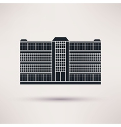 Business center icon in the flat style vector
