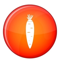Carrot icon flat style vector