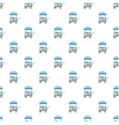 Cart with ice cream pattern vector