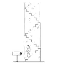 cartoon of man or businessman walking up vector image
