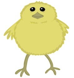 Chik cute cartoon vector