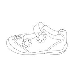 Children sandals for girls vector image