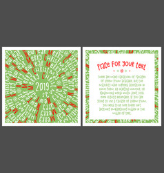 christmas card happy new year vector image