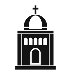 Church icon simple style vector