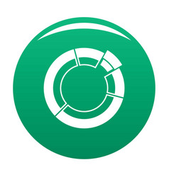 circle chart icon green vector image