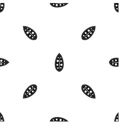 Cocoa pod pattern seamless black vector
