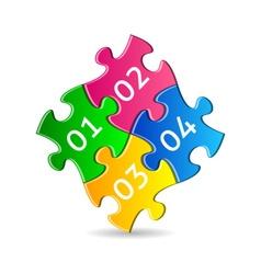 Colorful puzzle pieces vector image