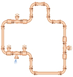 copper pipes vector image