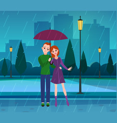 couple in love young people in love vector image