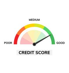Credit score assessment icon speedometer gauge vector
