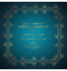 Damask square frame vector image