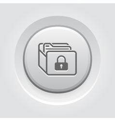 Database Security Icon Grey Button Design vector