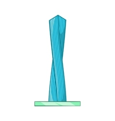 Emirates tower icon cartoon style vector