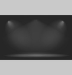 empty abstract mock up 3d stage studio background vector image
