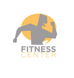 fitness center logo design silhouette running vector image