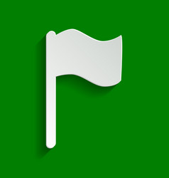 Flag sign paper whitish icon vector