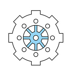 gear wheel vector image