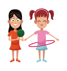 Girls sport game design vector