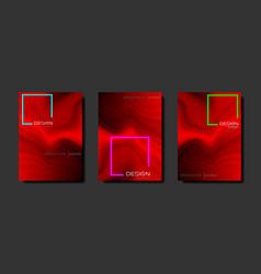 gradient fluid poster set cool brochure liquid vector image