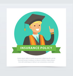 graduate student future financial planning vector image