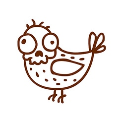 Hand Drawn Skeleton Disguised as a Bird vector