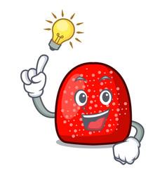 Have an idea gumdrop mascot cartoon style vector