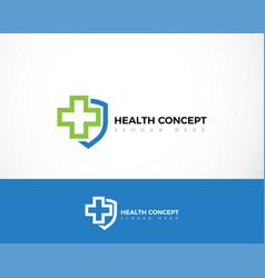 Health protect logo line creative design vector